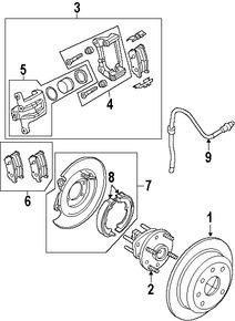 Imagen de Kit de reparación de Mordaza de Freno Original para Suzuki Reno 2005 2006 2007 2008 Marca SUZUKI Número de Parte 5542085Z00