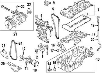 Cadena del Tiempo del Motor Original para Suzuki SX4