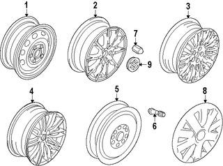 Imagen de Ruedas Original para Suzuki Kizashi 2010 2011 2012 2013 Marca SUZUKI Número de Parte 4321057L0009L