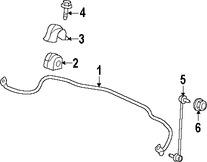 Imagen de Barra Estabilizadora de Suspensión Original para Suzuki Kizashi 2010 2011 2012 2013 Marca SUZUKI Número de Parte 4231057L00