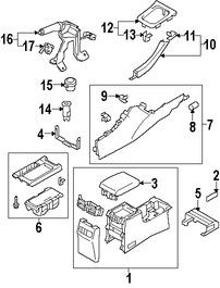 Imagen de Consola Central Original para Suzuki Kizashi 2010 2011 2012 2013 Marca SUZUKI Número de Parte 7585057L01GPZ