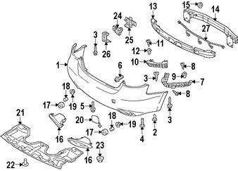 Imagen de Cubierta del parachoques Original para Suzuki Kizashi 2010 2011 2012 2013 Marca SUZUKI Número de Parte 7180057810T2G