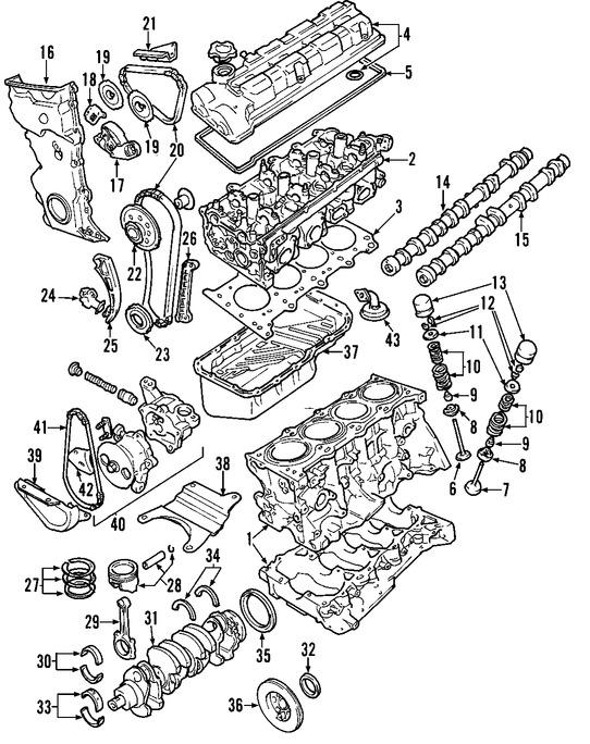 Rodamiento principal del Cigueñal Original para Suzuki