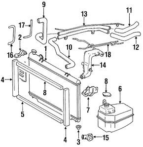 Imagen de Radiador Original para Toyota Previa 1992 1993 1994 1995 Marca TOYOTA Número de Parte 1640076082
