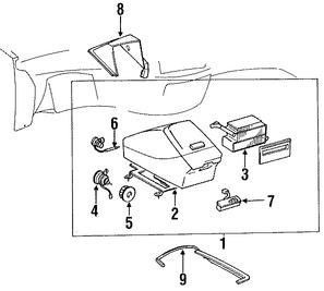 Imagen de Nucleo del evaporador del aire acondicionado Original para Toyota Previa 1992 1993 1994 Marca TOYOTA Número de Parte 8850128030