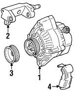 Imagen de Alternador Original para Toyota T100 1995 1996 Toyota Tacoma 1995 1996 Marca TOYOTA Remanufacturado Número de Parte 270606211084