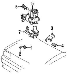 Imagen de Módulo de control de ABS Original para Toyota T100 1996 Marca TOYOTA Número de Parte 8954034031
