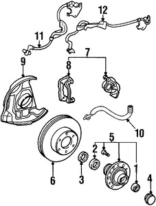 Imagen de Sensor de Velocidad Freno ABS Original para Toyota T100 1995 1996 1997 1998 Marca TOYOTA Número de Parte 8954234010