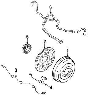 Imagen de Sensor de Velocidad Freno ABS Original para Toyota T100 1995 1996 1997 1998 Marca TOYOTA Número de Parte 0489534020