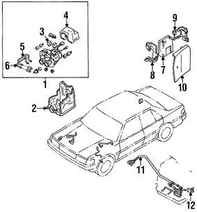 Imagen de Sensor de Velocidad Freno ABS Original para Toyota Cressida 1989 1990 1991 1992 Marca TOYOTA Número de Parte 8954430010