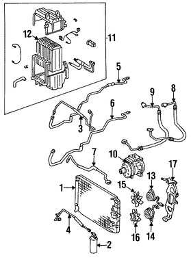 Imagen de Condensador de Aire Acondicionado Original para Toyota Supra 1986 1987 Marca TOYOTA Número de Parte 8846014250