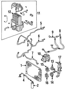 Imagen de Nucleo del evaporador del aire acondicionado Original para Toyota Supra 1986 Marca TOYOTA Número de Parte 8850114221