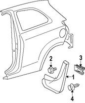 Imagen de Guarda lodo Original para Toyota Yaris 2008 Marca TOYOTA Número de Parte 7662652160
