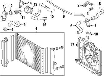 Motor y Radiador del Ventilador del Motor para Toyota