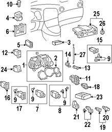 Imagen de Bombilla de Panel de Instrumentos Original para Toyota Matrix 2003 2004 Marca TOYOTA Número de Parte 8395001010