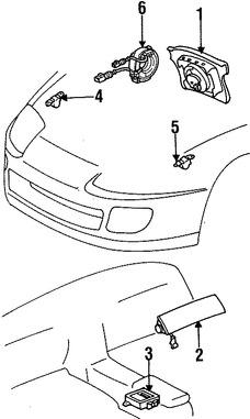 Imagen de Cable Espiral Bolsa de Aire Original para Toyota Supra 1998 Toyota 4Runner 2000 2001 2002 Marca TOYOTA Número de Parte 8430630120
