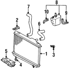 Imagen de Radiador Original para Toyota Paseo 1992 1993 1994 1995 Marca TOYOTA Número de Parte 1640011520