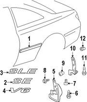 Imagen de Guarda lodo Original para Toyota Solara 1999 2000 2001 Marca TOYOTA Número de Parte 7662606010E0