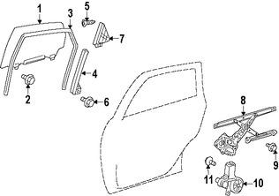Imagen de Motor de Vidrio Eléctrico Original para Toyota Prius V 2015 2016 2017 Marca TOYOTA Número de Parte 8572047170