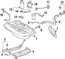 Colador de la Bomba de Combustible Original para Toyota