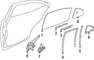 Imagen de Regulador de Vidrio Automatico Original para Toyota Lexus Marca TOYOTA Número de Parte 6980433050
