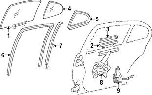 Imagen de Regulador de Vidrio Automatico Original para Toyota Lexus Marca TOYOTA Número de Parte 6980333050