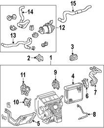 Imagen de Válvula de Expansión Aire Acondicionado Original para Lexus RX400h 2006 2007 2008 Toyota Highlander 2007 Marca TOYOTA Número de Parte 8851548070