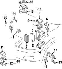 Imagen de Controlador del Ventilador Refrigeración del Motor Original para Toyota Lexus Marca TOYOTA Número de Parte 8925726020
