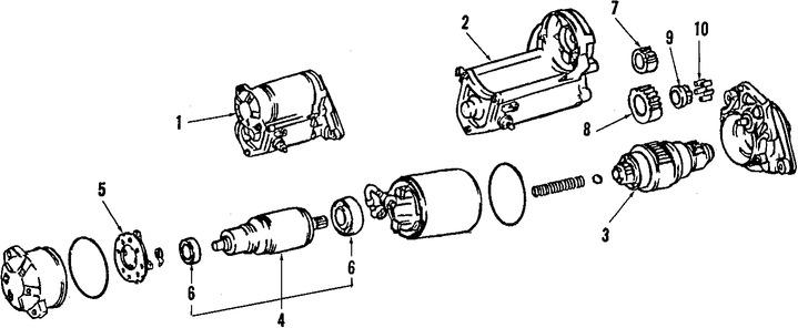Imagen de Motor de arranque Original para Toyota Paseo 1992 1993 1994 1995 Marca TOYOTA Remanufacturado Número de Parte 281001006084