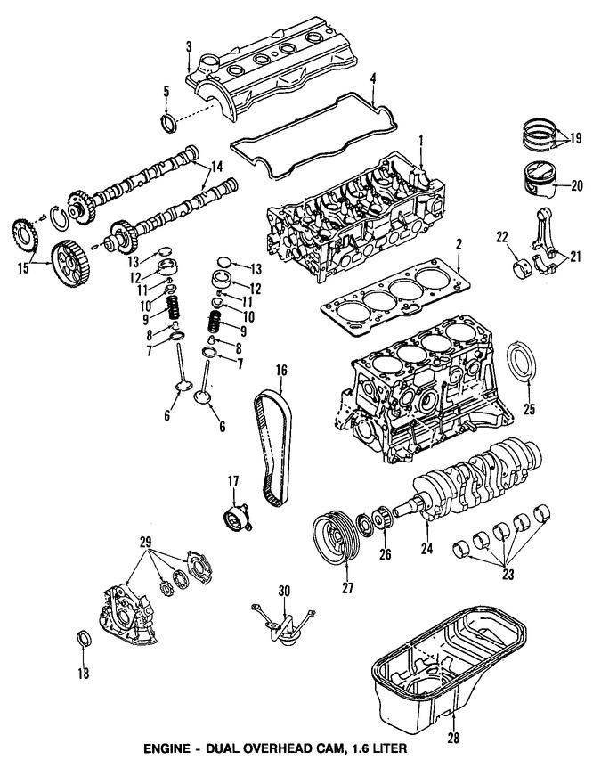 Sello del cigueñal del motor Original para Toyota Corolla
