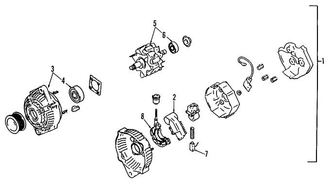 Imagen de Alternador Original para Toyota Previa 1992 1993 Marca TOYOTA Remanufacturado Número de Parte 270607604084