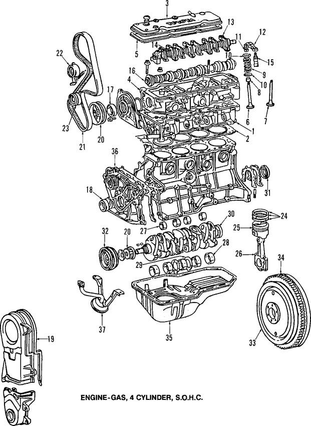 Sello del árbol de levas Original para Toyota Tercel 1989