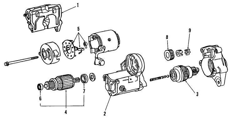 Imagen de Motor de arranque Original para Toyota Supra 1991 1992 Toyota Cressida 1991 1992 Marca TOYOTA Remanufacturado Número de Parte 281004609084