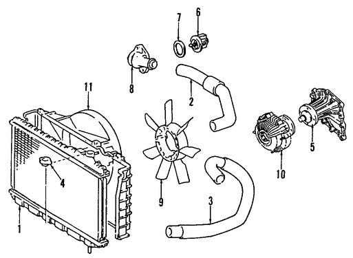 Imagen de Embrague del Ventilador Enfriado del Motor Original para Toyota Supra 1986 1987 1988 Marca TOYOTA Número de Parte 1621042040