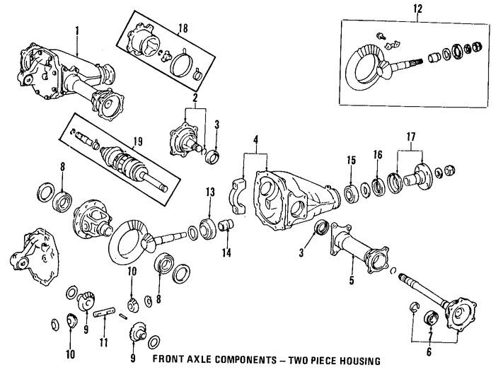 Rodamiento Piñón de Diferencial Original para Toyota Marca