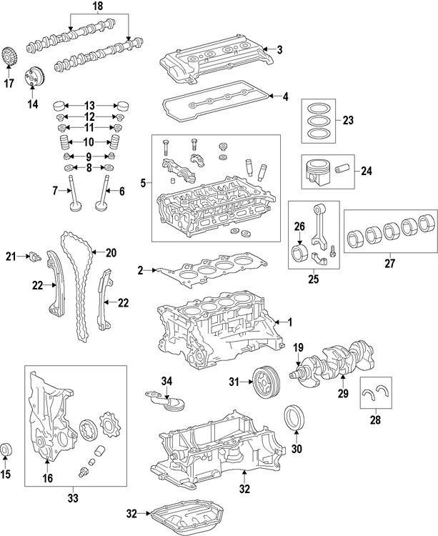 Imagen de Seguidor del árbol de levas Original para Toyota Prius C 2012 2013 2014 Marca TOYOTA Número de Parte 1375146160