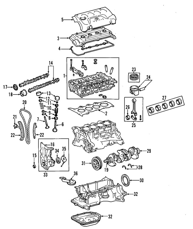 Cabezales y Múltiples para Toyota Echo 2000