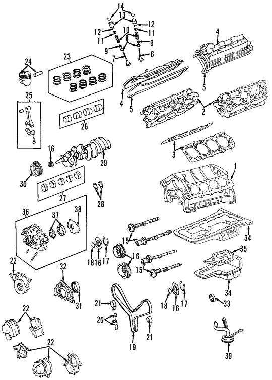 Imagen de Culata del motor Original para Lexus LX470 1998 1999 2000 2001 Marca TOYOTA Número de Parte 1110259027