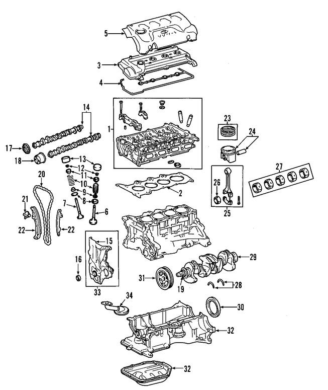 v u00e1lvula de escape del motor original para toyota prius