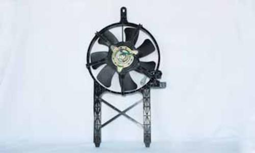 Imagen de Conjunto ventilador del condensador de Aire Acondicionado para Nissan Frontier 2006 Nissan Pathfinder 2006 Marca TYC Número de Parte #610960