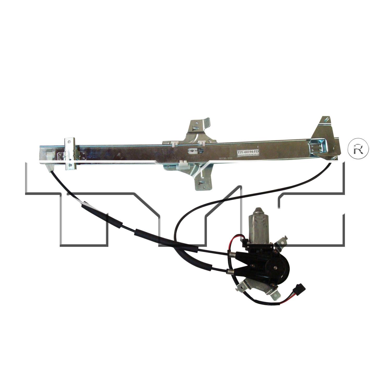 Imagen de Conjunto Motor y Regulador de Vidrio Automatico para Ford E-350 Super Duty 2009 Marca TYC Número de Parte 660233