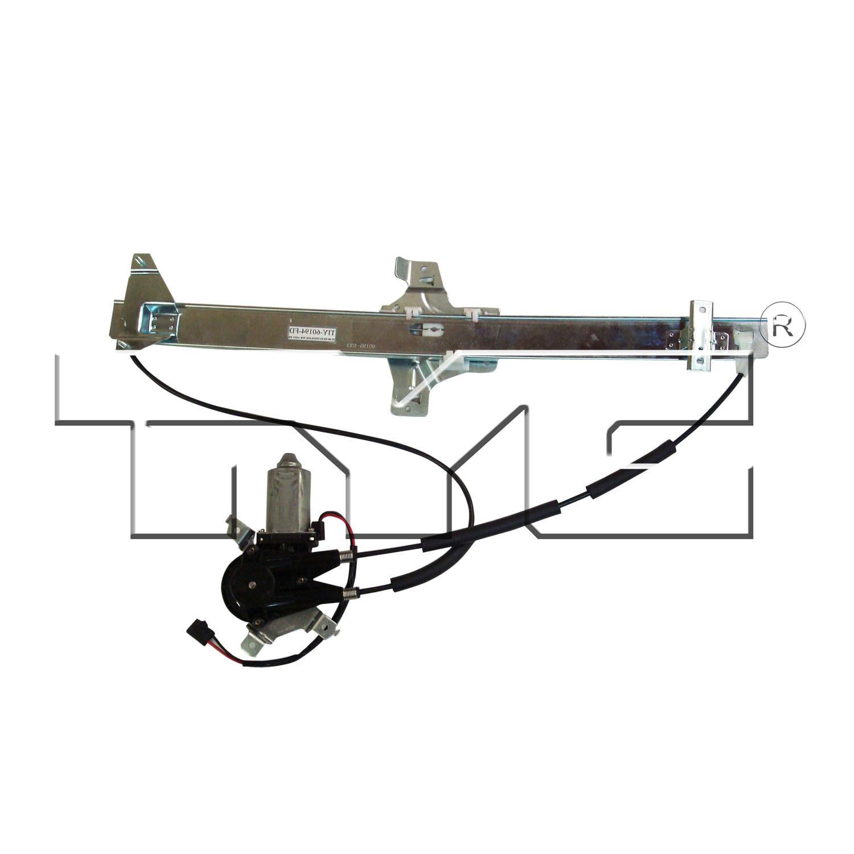 Imagen de Conjunto Motor y Regulador de Vidrio Automatico para Ford E-350 Super Duty 2009 Marca TYC Número de Parte 660234