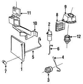 Imagen de Manguera de succión Refrigerante Aire Acondicionad Original para Volvo 780 1987 Volvo 760 1987 Marca VOLVO Número de Parte 1388739