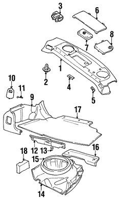 Imagen de Panel de maletero Original para Volvo S70 1999 2000 1998 Marca VOLVO Número de Parte 9193722