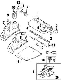 Imagen de Panel de maletero Original para Volvo V40 2000 Marca VOLVO Número de Parte 30866207