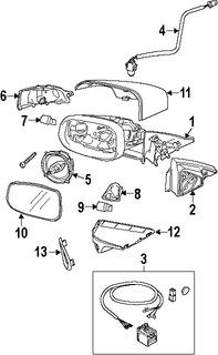 Imagen de Cubierta de Espejo Retrovisor Externo Original para Volvo C30 2008 Volvo S60 2008 Marca VOLVO Número de Parte 39850631