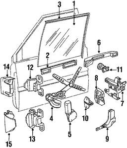 Imagen de Regulador de Vidrio Automatico Original para Volvo 740 1991 Volvo 940 1991 Marca VOLVO Número de Parte 3538176