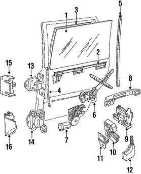 Imagen de Regulador de Vidrio Automatico Original para Volvo 740 1991 Volvo 940 1991 Marca VOLVO Número de Parte 3538174