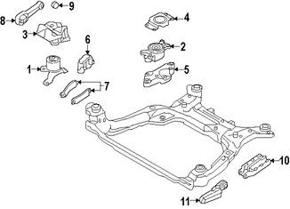 Imagen de Soporte de Montura del motor Original para Volvo V60 2015 Volvo V60 Cross Country 2015 2016 Marca VOLVO Número de Parte 30636636
