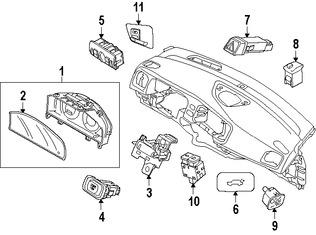Imagen de Panel de Instrumentos Original para Volvo V60 Cross Country 2017 Volvo V60 2017 2016 Volvo S60 2016 Marca VOLVO Número de Parte 36011392